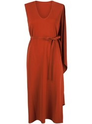 Narciso Rodriguez Wrap Dress Red