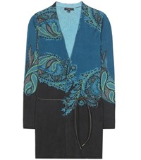 Etro Printed Wool And Cashmere Cardigan Multicoloured