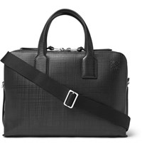 Loewe Goya Embossed Leather Briefcase Black