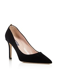 Sarah Jessica Parker Sjp By Fawn Velvet Pointed Toe High Heel Pumps 100 Bloomingdale's Exclusive Black