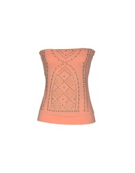 Met Miami Cocktail Topwear Tube Tops Women Salmon Pink
