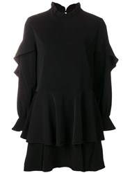 Jovonna Izzah Ruffled Dress Black