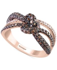 Effy Collection Espresso By Effy Diamond Knot Ring 1 1 10 Ct. T.W. In 14K Rose Gold