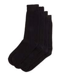 Men's Two Pair Cashmere Blend Sock Set Black Neiman Marcus Black Black