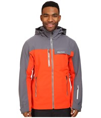 Marmot Storm King Jacket Mars Orange Steel Onyx Men's Coat Gray