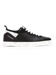Hogan Rebel Paint Splatter Print Sneakers Black