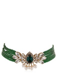 Shourouk Cascade Beaded Crystal Choker