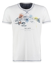 Teddy Smith Print Tshirt Blanc White