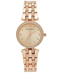 Charter Club Women's Pave Rose Gold Tone Bracelet Watch 28Mm Only At Macy'