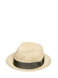 Borsalino Crocheted Straw Medium Brim Panama Hat