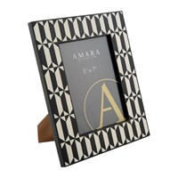 Amara Black White Photo Frame 5X7