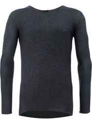 Avant Toi Fine Knit Jumper Silk Polyester Cashmere Blue