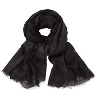 John Lewis Wool Silk Blend Pashmina Black