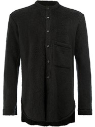 L'eclaireur Textured Long Sleeve Shirt Black