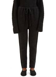 Lauren Manoogian Arch Knitted Track Pants Black