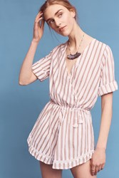 Anthropologie Dock Of The Bay Romper Neutral Motif