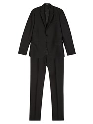 Valentino Wool And Silk Mix Suit Black