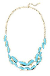 Noir Jewelry Woman Afterglow 14 Karat Gold Plated Stone Necklace Turquoise