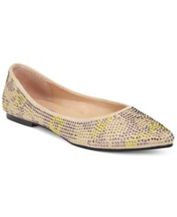Dolce By Mojo Moxy Heiress Flats Women's Shoes Beige Multi
