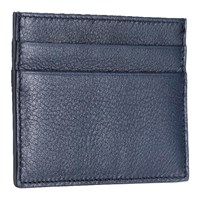 Mark Giusti Napa Printed Leather Credit Card Holder Navy And Venice