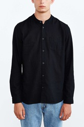 Cpo Stevens Mandarin Button Down Shirt Black