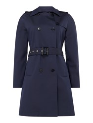 Gant Cool Travel Belted Double Breasted Trench Coat Dark Blue