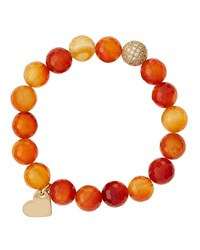 Soul Journey Carnelian Beaded Stretch Bracelet