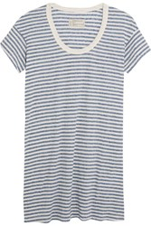 Current Elliott The Slouchy Striped Jersey Mini Dress Sky Blue