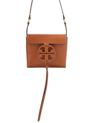 Tory Burch Miller Soft Leather Crossbody Bag Brown
