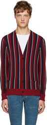Saint Laurent Tricolor Striped Cardigan
