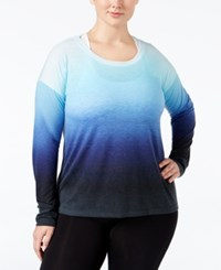 Ideology Plus Size Dip Dyed Top Only At Macy's Crystal Mist Dip