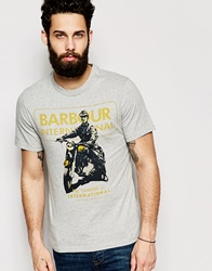 Barbour T Shirt With Archive Motorcycle Print Greymarl
