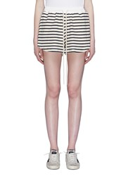 Bassike Stripe Drawstring Shorts Multi Colour
