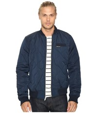 Members Only Oval Quilted Bomber Puffer Jacket Navy Men's Coat