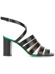 Paul Smith Ps By Strappy Block Heel Sandals Black