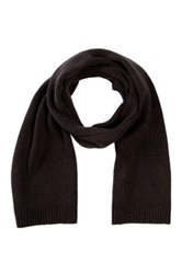 Victorinox Essential Knit Ribbed Scarf Brown