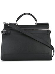 Dolce And Gabbana 'Sicily' Tote Bag Men Calf Leather One Size Black