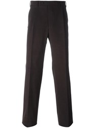 Canali Straight Trousers Brown