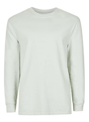 Topman Mint Green Oversized Long Sleeve T Shirt