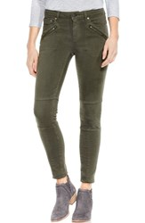 Vince Camuto Two By D Luxe Twill Moto Jeans Military Green