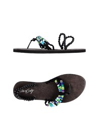 Miss Sixty Footwear Thong Sandals Women Black