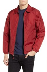 Brixton Claxton Water Repellent Jacket With Faux Shearling Burgundy