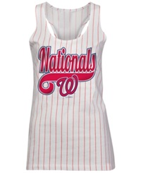 5Th And Ocean Women's Washington Nationals Opening Night Tank Top White