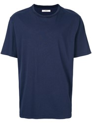 Mauro Grifoni Shortsleeved Basic T Shirt Blue