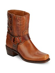 Frye Harness Leather Boots Tan