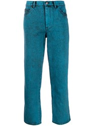Marc Jacobs Cropped Turn Up Jeans Blue