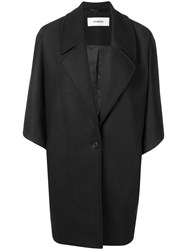Chalayan Oversized Button Coat Black
