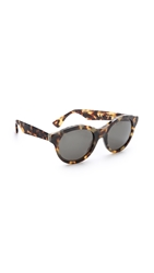 Super Sunglasses Mona Cheetah Sunglasses Tortoise Black