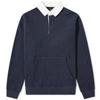 Beams Plus Rugby Shirt Blue