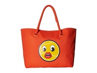 Lacoste Summer Cross Yazbukey Large Shopping Bag Red Orange Lip Handbags
